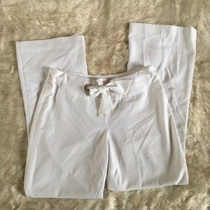 Cache // White Wide Leg Tie Waist Pants 10